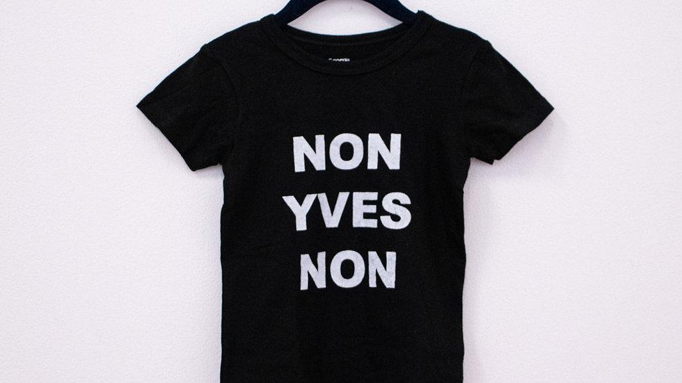 """T-shirt enfant """"NON YVES NON"""""""