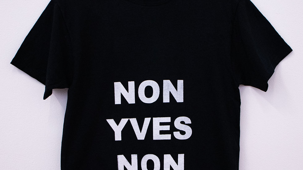 """T-shirt sérigraphié """"NON YVES NON"""""""
