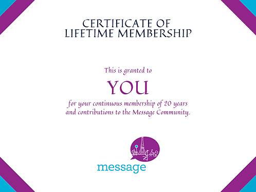 Life Member to Message