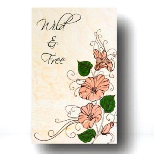 """Wild & Free"" Magnet"