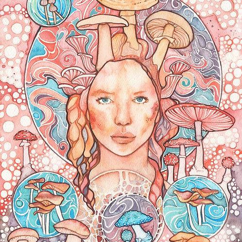 Watercolour Print - Mycelium's Daughter