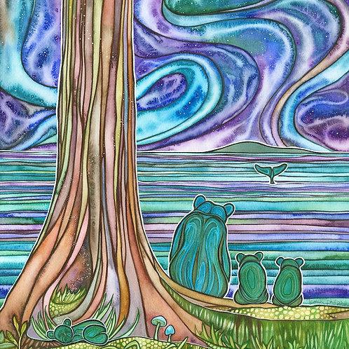 Watercolour Print - Bear Night