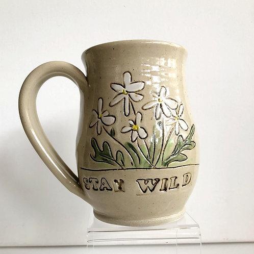 """Stay Wild"" Daisy Mug"