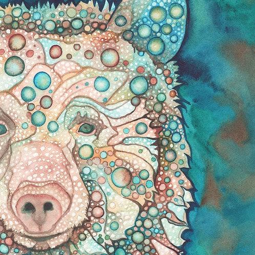 Watercolour Print - Spirit Bear