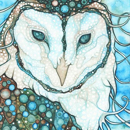 Watercolour Print - Starlit Owl