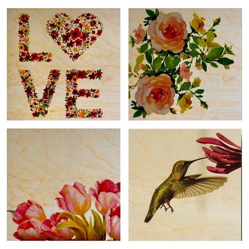 """Love Nature"" Coaster Set"