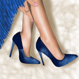 Velvet Blue Stillettos