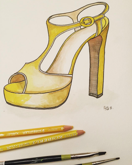 Chunky Yellow Platform Shoe