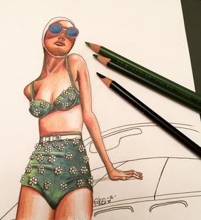 Lady in the Vintage Bikini
