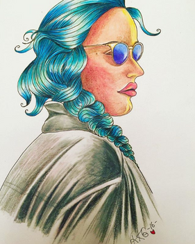 Lady with the Blue Hair