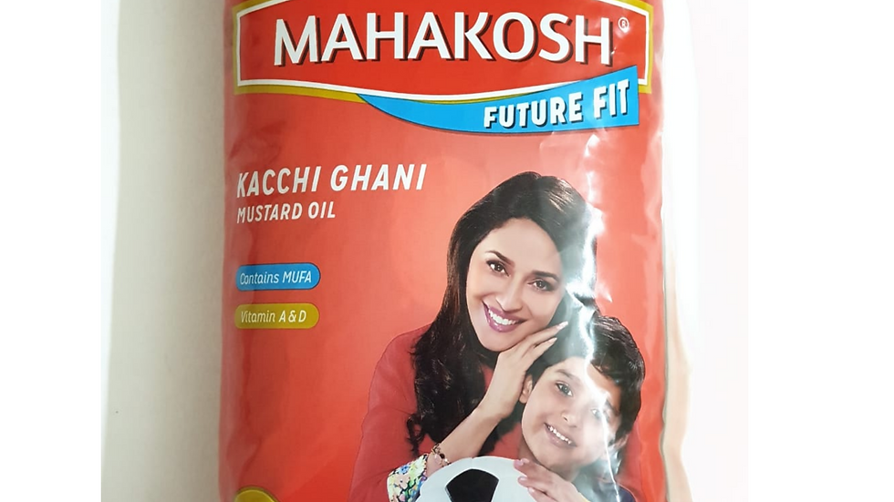 Mahakosh kachhi ghani mustard oil, 1ltr
