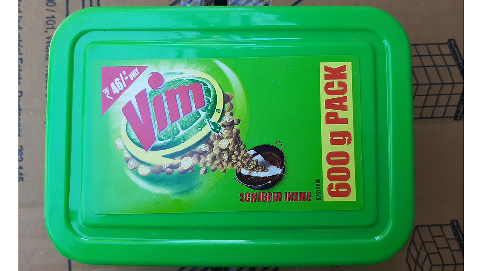 Vim 600gm pack with scrubber