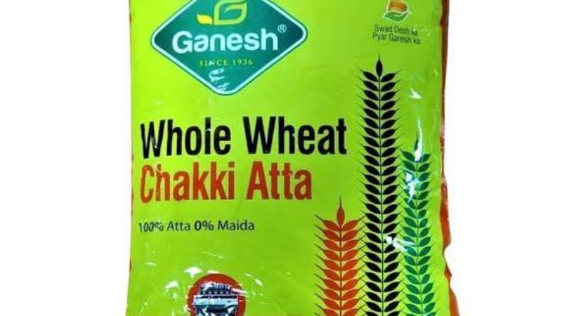 Ganesh whole wheat chakki atta,1kg