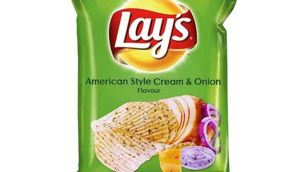 Lays american style cream onion