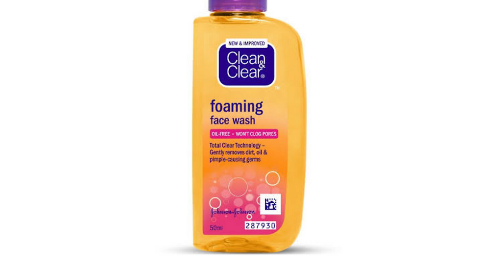 Clear & clear foaming face wash 150ml