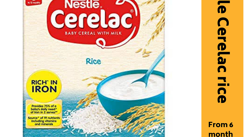 Nestle Cerelac Rice (from 6month)