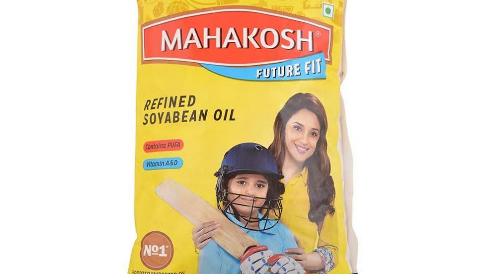 Mahakosh refind soyabean oil, 1ltr