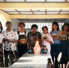 Reverse Decoupage Glass Plate Workshop in Trinidad