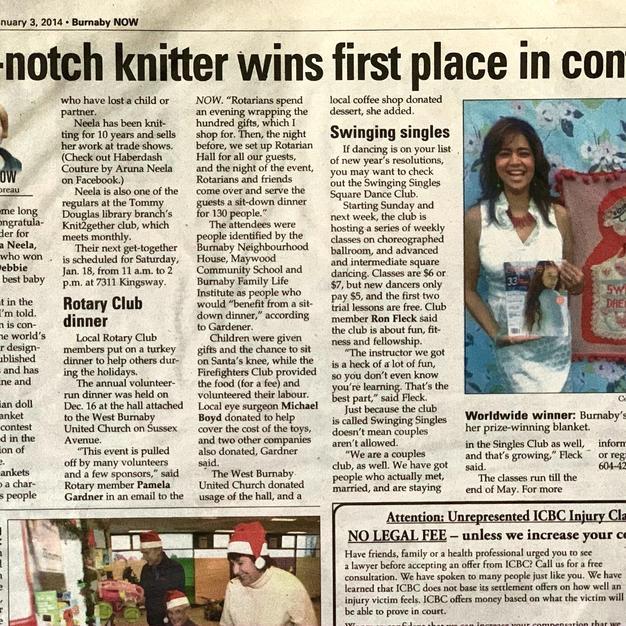 Newspaper Highlighting my Design Win
