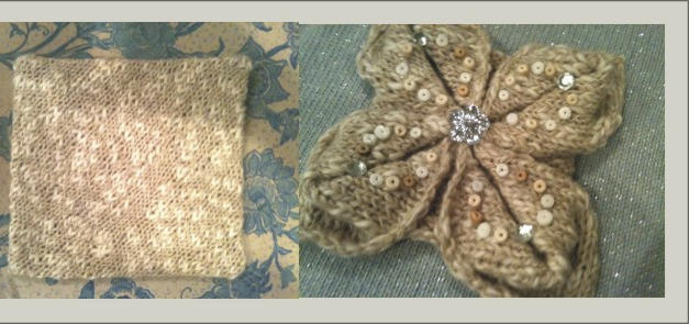 Knitted Square to Beautiful Flower?!