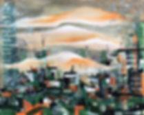 EKG,Untitled City,Acrylic onCanvasPanel,