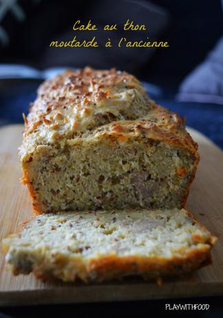 Cake au thon - moutarde à l'ancienne