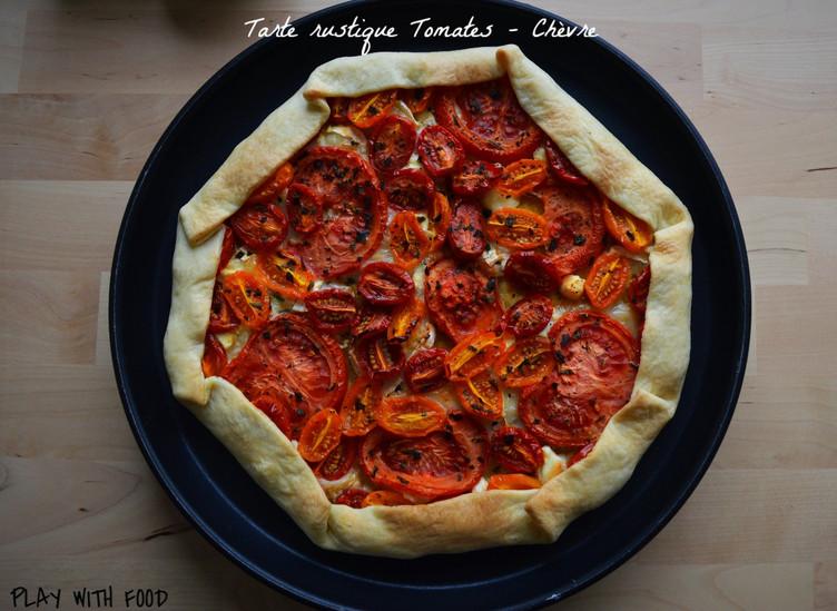 Tarte Rustique Tomates - Chèvre