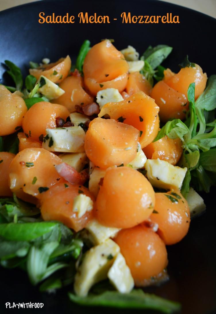 Salade Fraîche Melon - Mozzarella