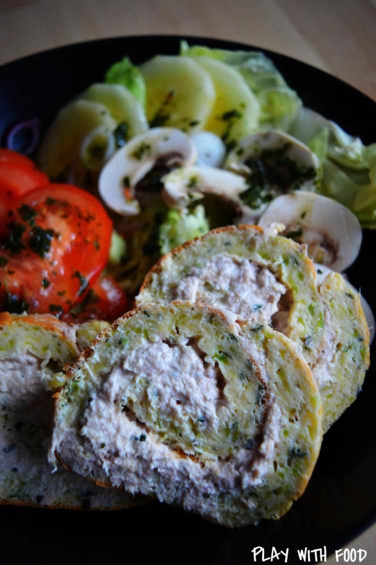 Roulé de Courgettes - Thon Fromage Frais [Foodista Challenge #33]