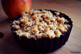 Crumble Pommes Poires (...et aussi du chocolat...)