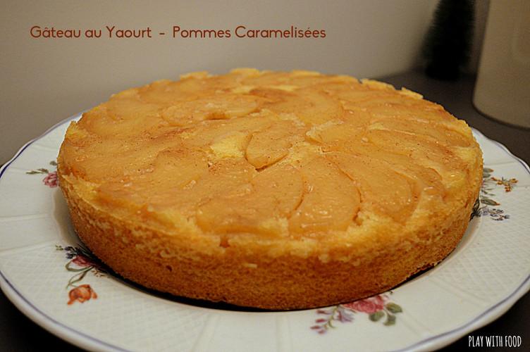 Gâteau au yaourt et pommes caramélisées - Bilan de la Battle Food #58