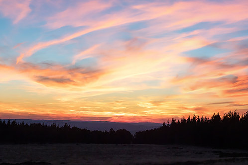 Sunset au Mont-Lozère