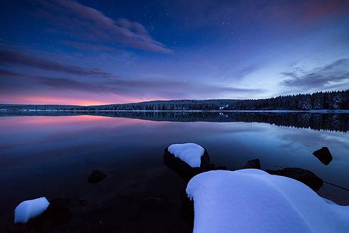 Lac de lozère en hiver