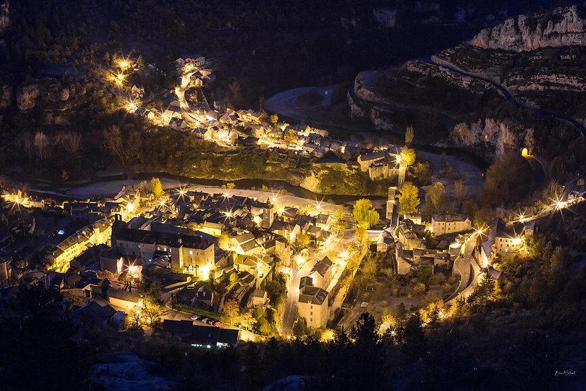 Sainte-Enimie by night