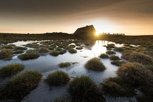 Lever de soleil sur Buron