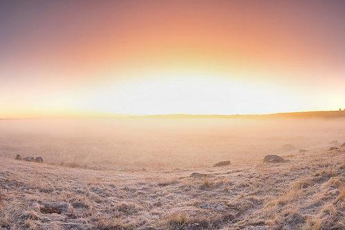 Sunrise givré sur l'Aubrac
