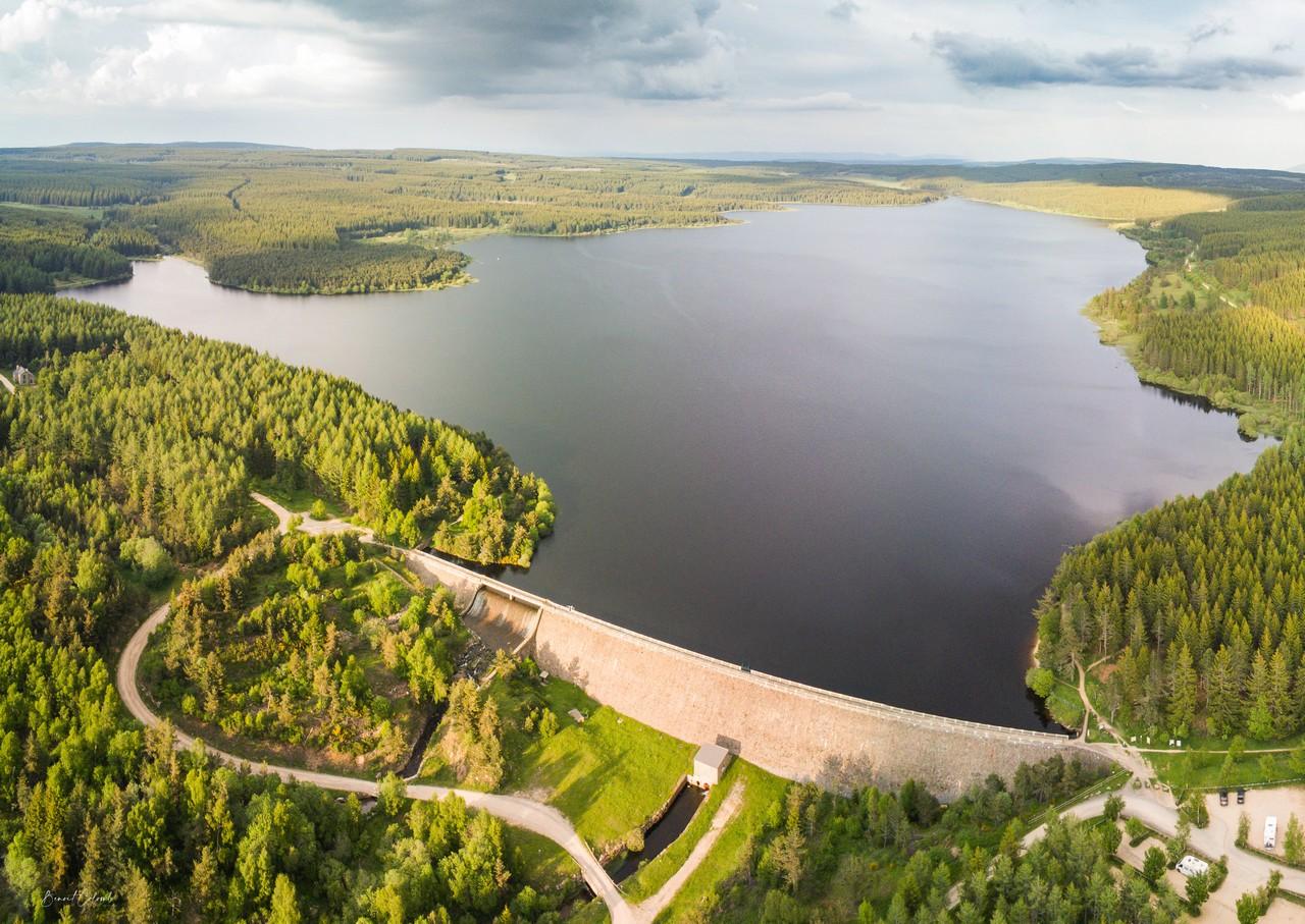 Lac de Charpal vue du Ciel