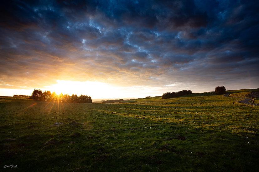 Lever de soleil sur l'Aubrac