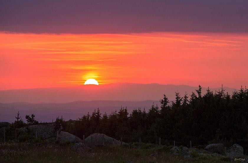 Sunset en Margeride