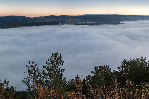 Mer de nuages à Mende