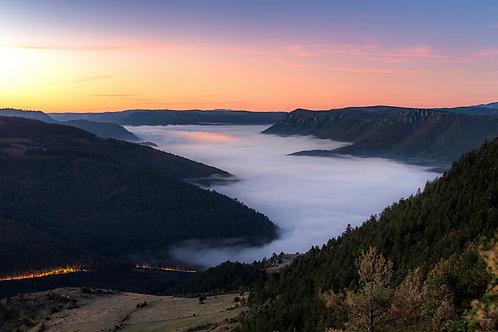 Mer de nuages à Montmirat