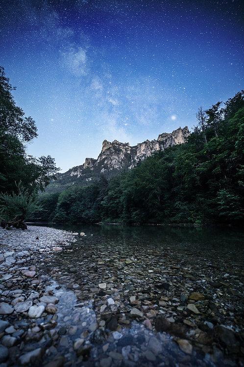 Clair de lune au bord du Tarn