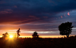 Trail sunset