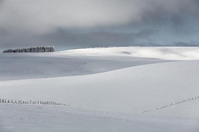 Le désert blanc de l'Aubrac