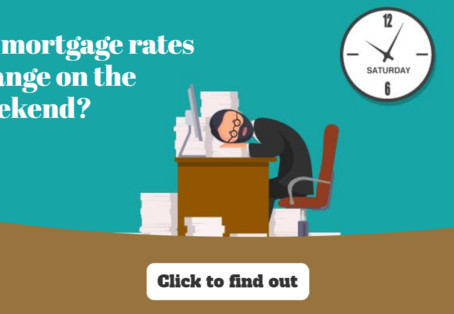 Do mortgage rates change on the weekend?
