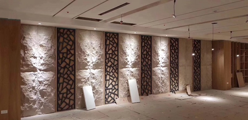 Wall Cladding in Yellow Granite Stone Skin