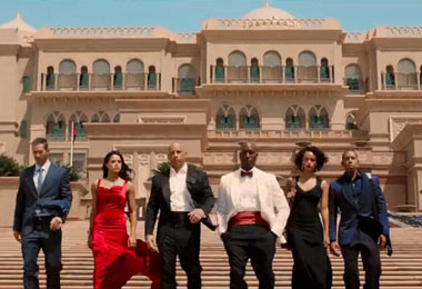 Emirates Palace hotel in fast and furious movie 7