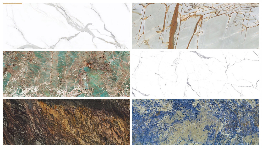 3D Painted Compress Marble