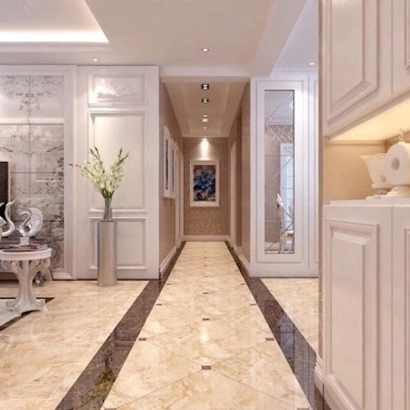 Indian Marble Floor Border Design