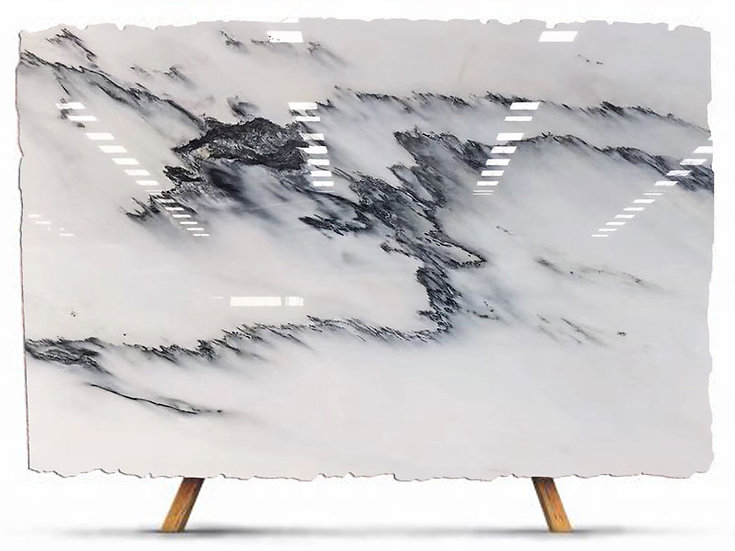 Ink Wash White Marble